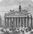 THE ROYAL EXCHANGE. The present Royal Exchange. London c1880 old antique print